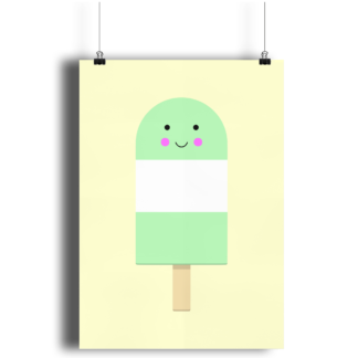 Green Ice Lolly A4 Print