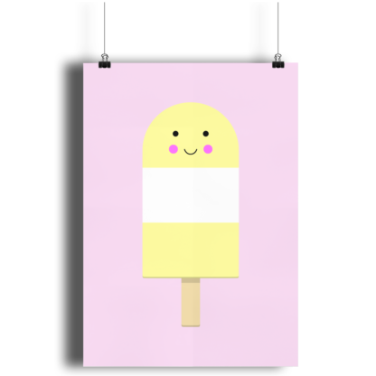 Yellow Ice Lolly A4 Print