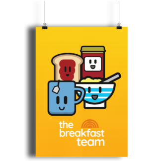 The Breakfast Team A4 Print