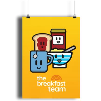 The Breakfast Team A4 Print