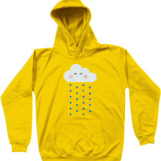 Unisex Kids Clothing Yellow Rain Cloud Hoodie