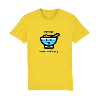 porridge love yellow tshirt
