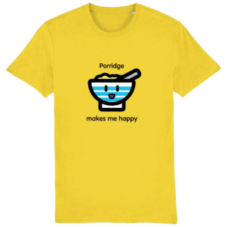 Happy Porridge T-shirt for adults