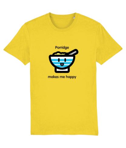 Happy Porridge T-shirt for adults