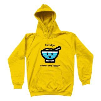 yellow porridge unisex kids hoodie