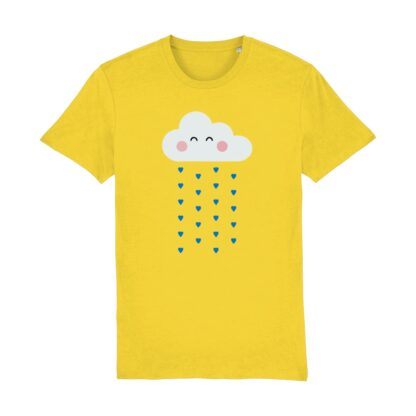 yellow raincloud tshirt teens and adults
