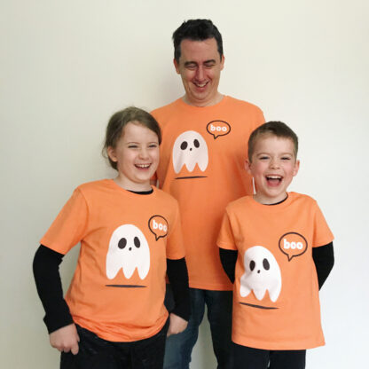 Halloween Ghost T-shirt adult and child