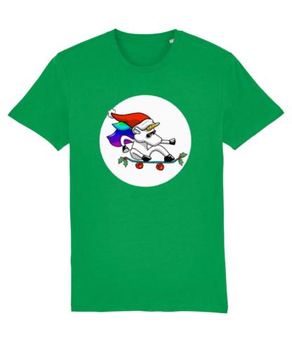 Green Christmas Unicorn Tshirt Adults